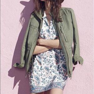 "Madewell ""flora paisley"" silk tunic dress"